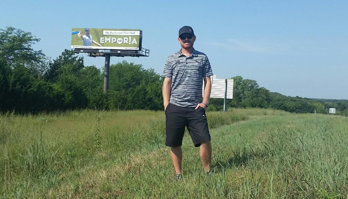 Eric McCabe Emporia Disc Golf Billboard