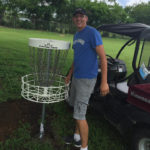 Tyler Franklin installs Disc Golf course