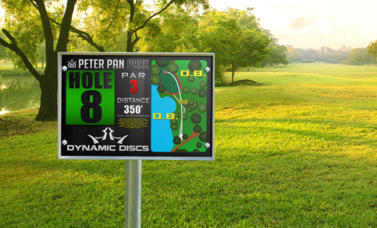 Deluxe Large Disc Golf Tee SIgn for Disc Golf Course