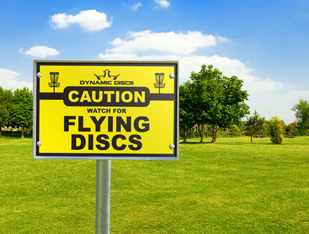 Dynamic Course Design Flying Disc Sign