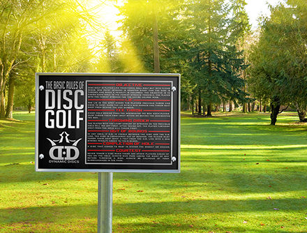 Dynamic Course Design Rules of Disc Golf